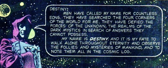 Destiny and the Cosmic Log