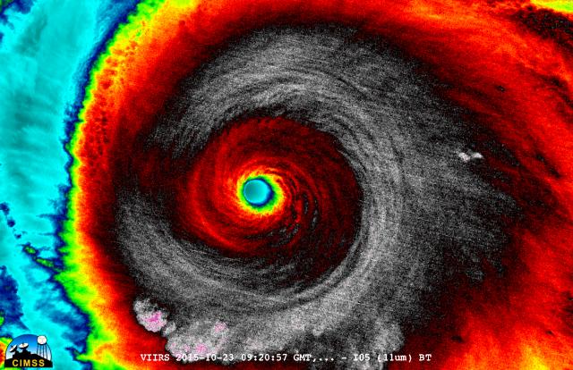 VIIRS view of Hurricane Patricia