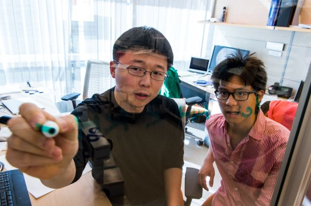 Image: Feng Zhang with student