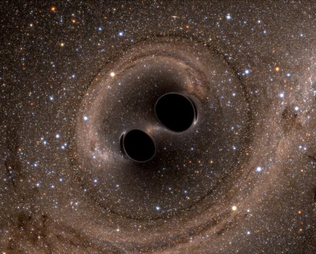 Image: Black hole merger