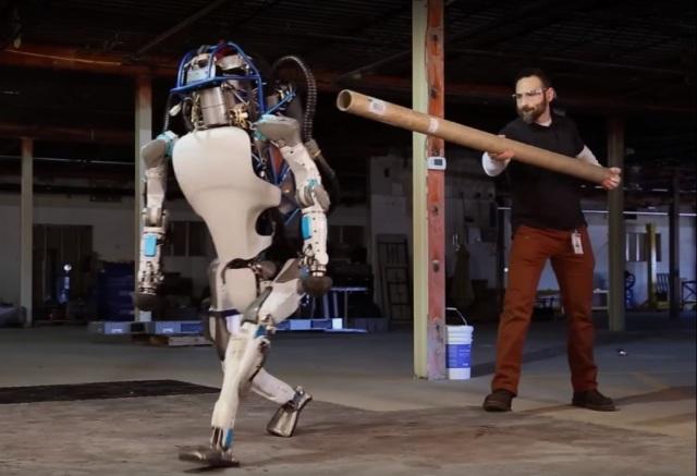 Image: Pushing a robot