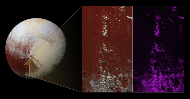 Image: Methane on Pluto