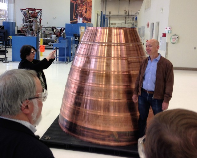 Image: Bezos at Blue Origin