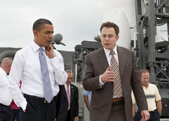 Image: President Obama and Elon Musk