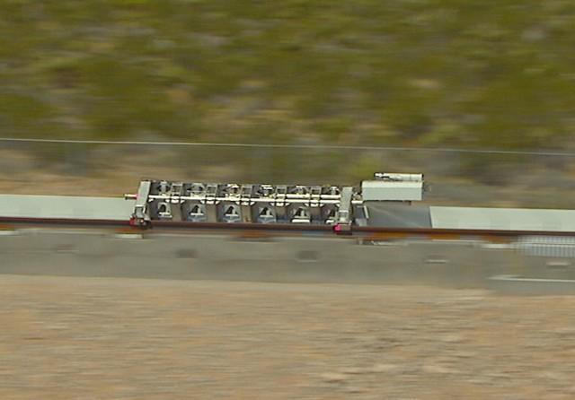 Image: Hyperloop One sled