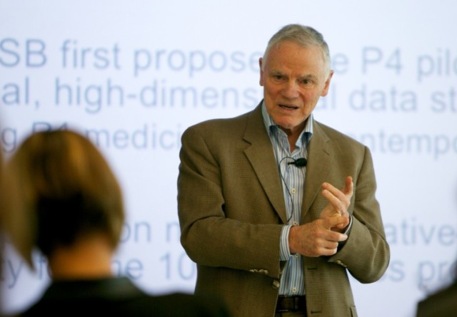 Genetics pioneer Leroy Hood is furthering his agenda for what he calls P4 medicine through a commercial venture called Arivale as well as a collaboration between his Institute for Systems Biology and Providence Health & Services. (Credit: ISB)