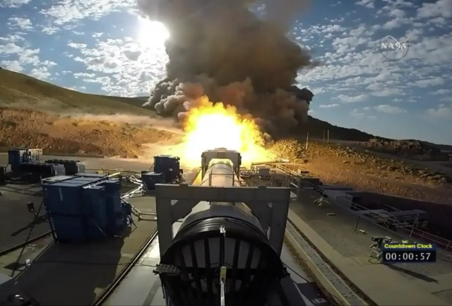 Image: SLS booster test