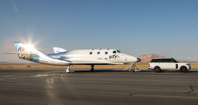 Image: Virgin Galactic taxi test