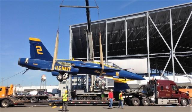 Blue Angels jet unloaded