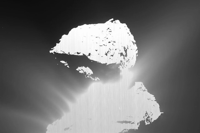 Image: Rosetta image of comet eruption