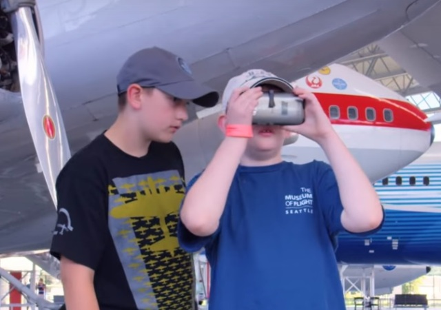 Image: VR tour at Museum of Flight