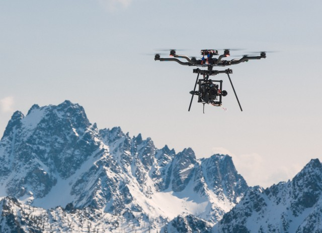 Drone in North Cascades