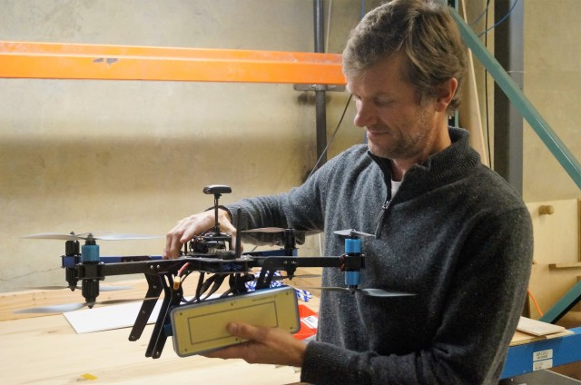 Eben Frankenberg with drone