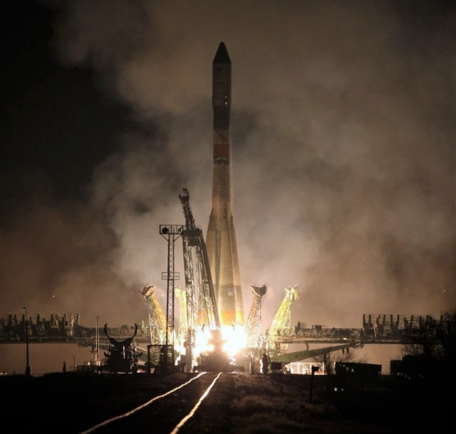 Soyuz launch with Progress