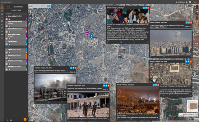Image: BlackSky platform provides Aleppo data