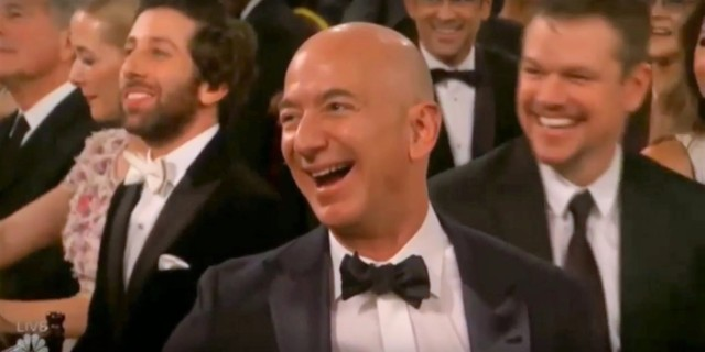 Jeff Bezos at Golden Globes