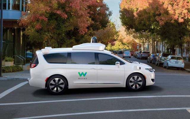 Waymo has modified Chrysler Pacifica minivans for autonomous driving. (Fiat Chrysler Photo)