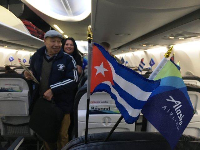 Alaska flight to Havana