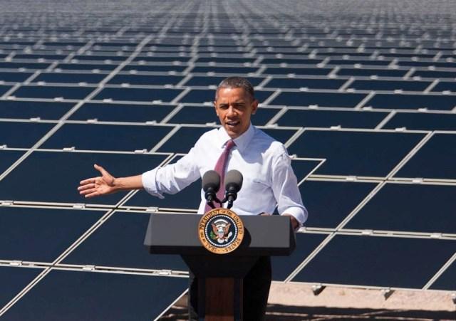 Obama at solar farm