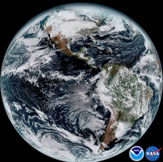 GOES-16 view of Earth