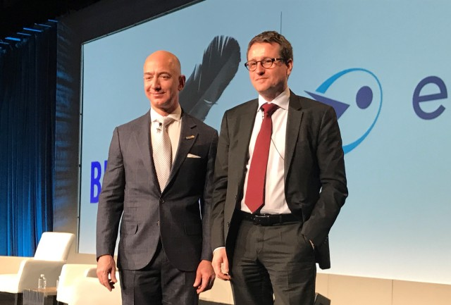 Jeff Bezos and Rodolphe Belmer