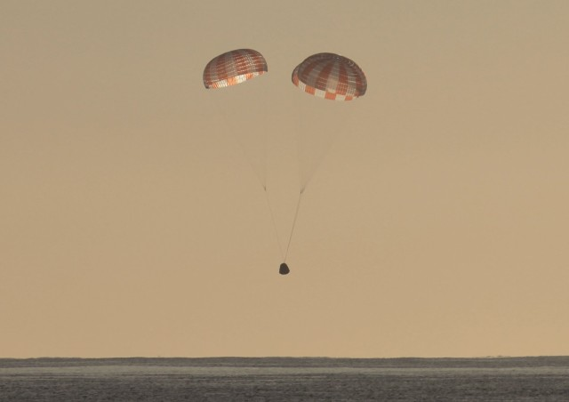 SpaceX Dragon descent
