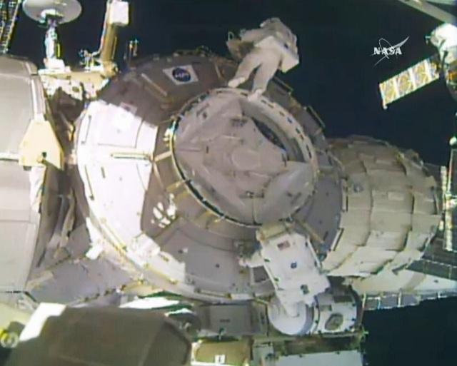 Spacewalkers at work