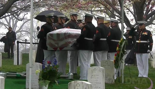 John Glenn's burial
