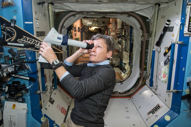 Peggy Whitson on ISS