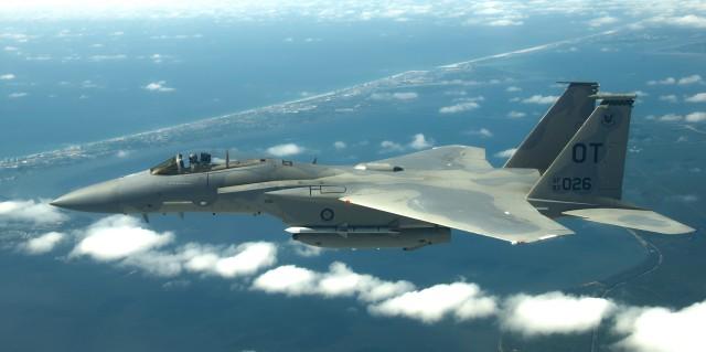 F-15 in flight