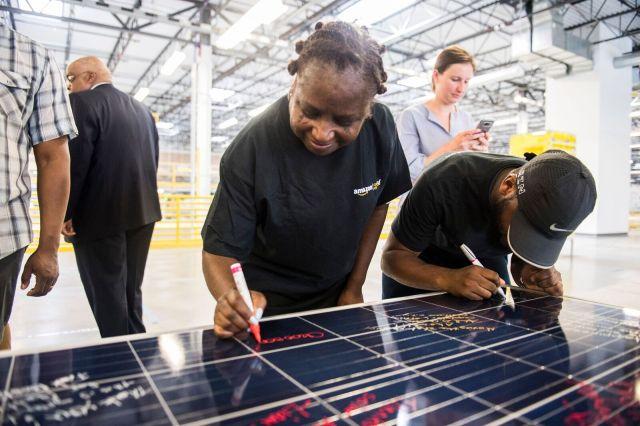 Solar panels at Amazon