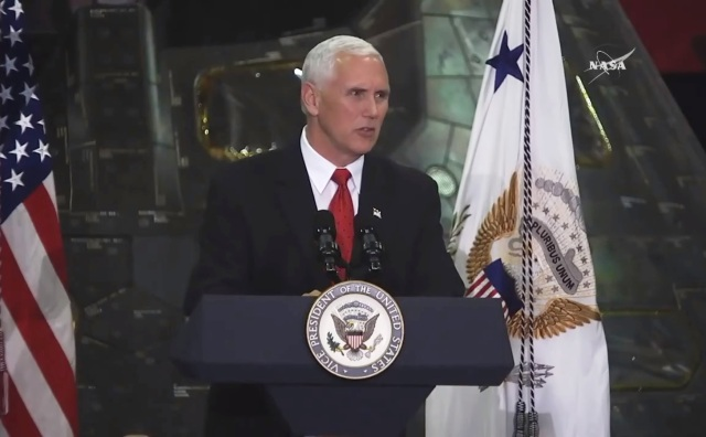 Mike Pence at KSC