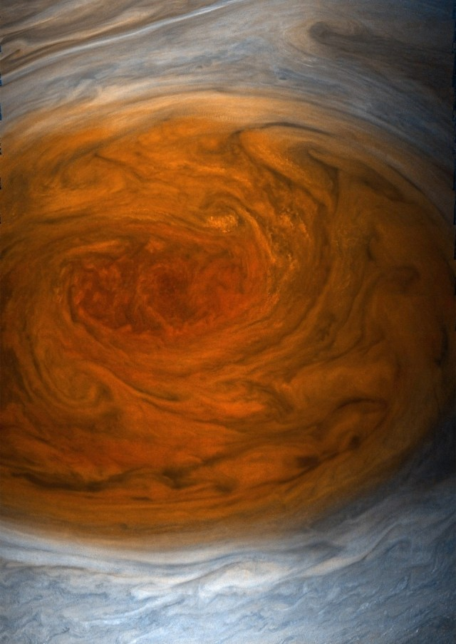 Juno view of Great Red Spot
