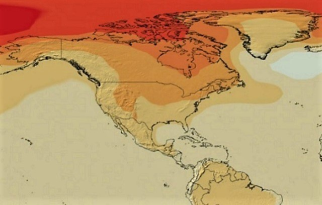 Global warming projection