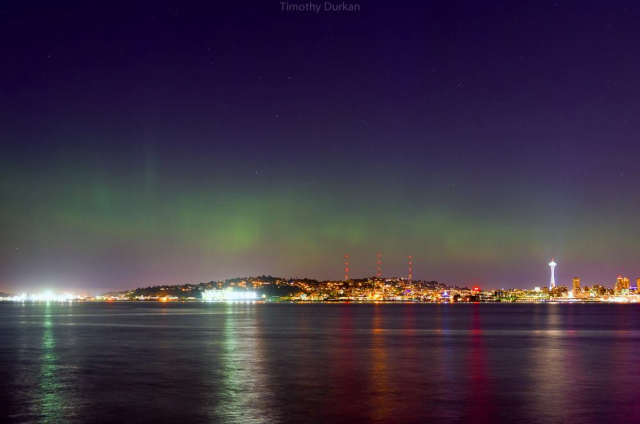 Aurora over Seattle
