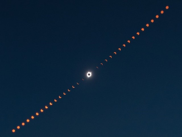 Eclipse composite image