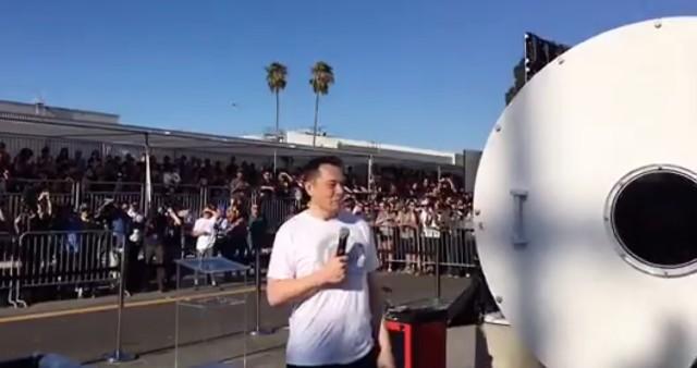 Elon Musk at Hyperloop pod race