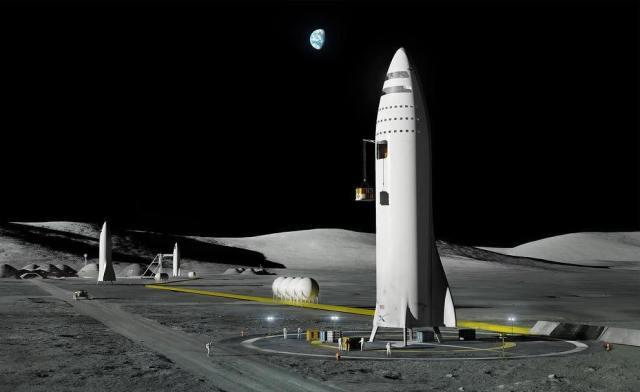BFR on moon