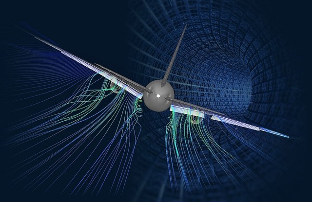 Boeing air flow visualization