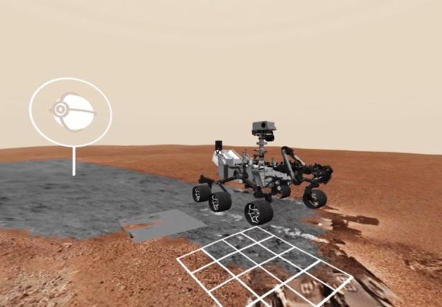 Mars rover in VR