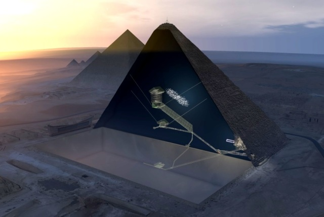 Pyramid cutaway