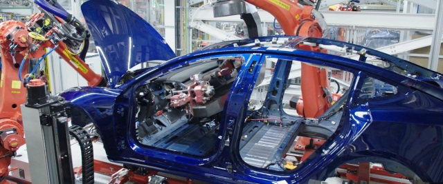 Tesla robot assembly