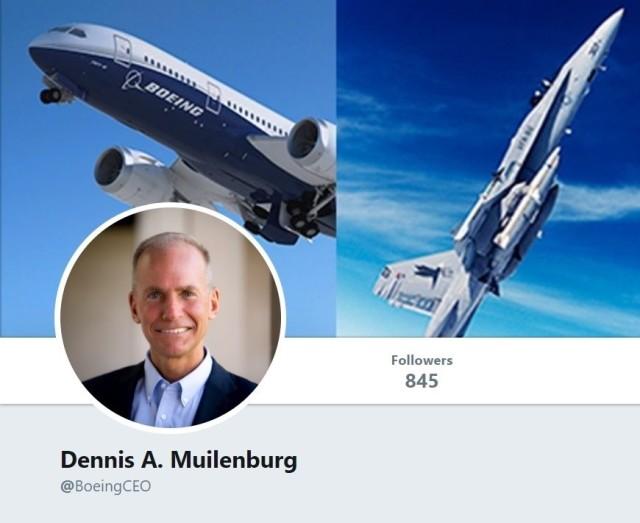 Dennis Muilenburg Twitter profile