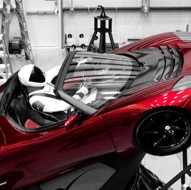 Starman in Tesla Roadster