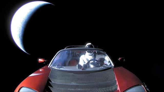 Starman in Tesla Roadster