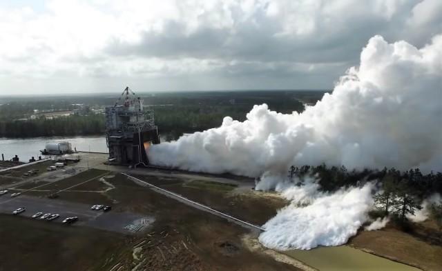 Rocket engine firing