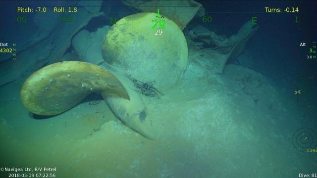 USS Juneau propeller