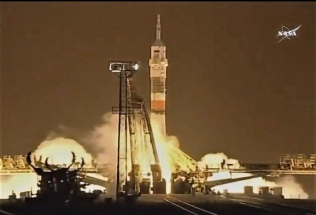 U.S.-Russian crew blasts off for the space station ...