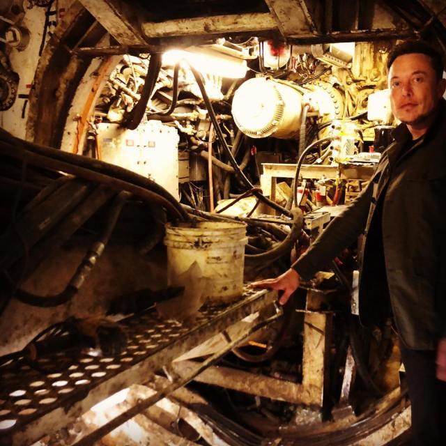 Elon Musk in tunnel