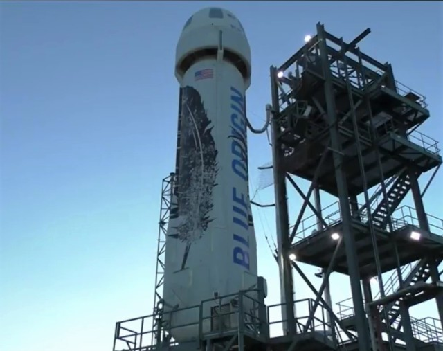 New Shepard on pad